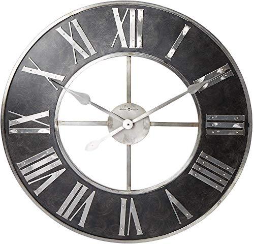 Howard Miller Dearborn Wall Clock 625-573 - Oversized Steel Frame with Quartz Movement