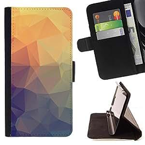 Kingstore / - Crystal parterns de púrpura y amarillo Colores - Samsung Galaxy A3