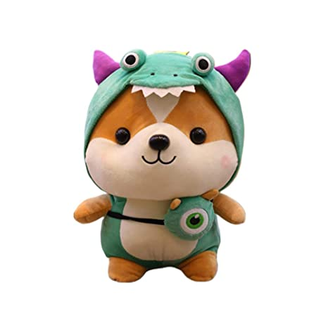 FidgetGear Cute Squirrel Plush Toy Doll Shapeshift Birthday Gift Transformed Dinosaur 35 cm