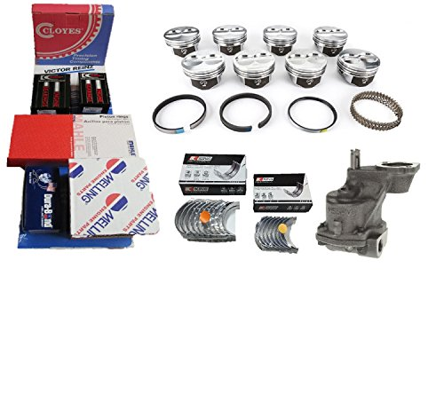 Chevy 350 5.7 Performer Engine Kit Hypereutectic Pistons+Rings+HV Pump 67-79 (Std Bore, Std/Std Bearings)