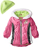 London Fog Baby Girls Sporty Puffer, Pink, 24 Months