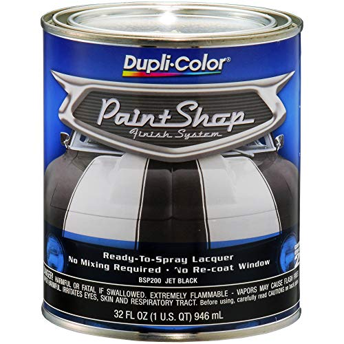 - Dupli-Color BSP200 Jet Black Paint Shop Finish System - 32 oz.