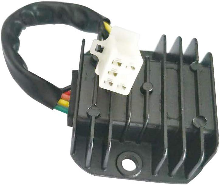 GOOFIT R/égulateur redresseur 12V /à 5 fils pour 125cc 150cc 200cc 250cc VTT Dirt Bike Go Kart