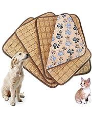 Idepet - Tapis de couchage à double usage pour chiots et chats - Natte rafraîchissante en bambou pendant l'été et Coussin de dissipation de la chaleur pendant l'hiver, M/L/XL/XXL, Rose/violet/marron/café