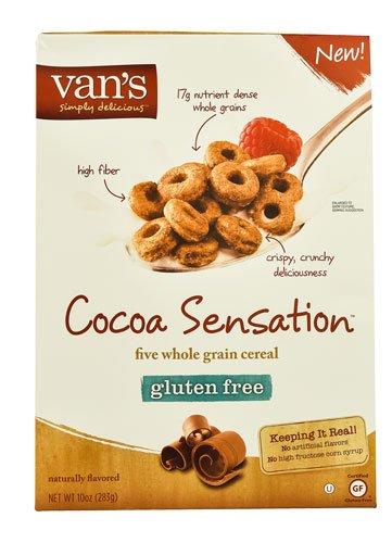 Van's Natural Foods Five Whole Grain Cereal Gluten Free Cocoa Sensation? -- 10 oz - 2 pc