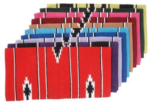 Tough 1 55% Wool Sierra Saddle Blanket, Red/Black/Cream, 30 x 30