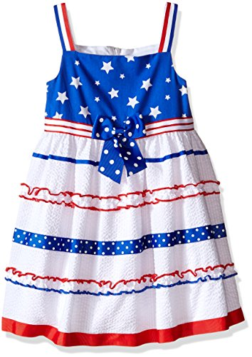 Seersucker Sundress (Bonnie Jean Little Girls' Stars and Stripes Seersucker Sundress, Royal, 6X)
