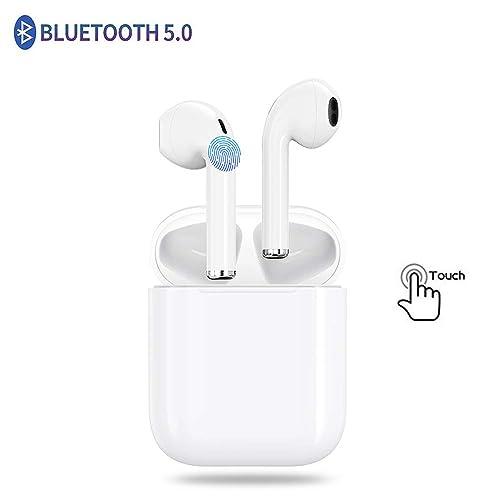 ooohh Auriculares I11 TWS Bluetooth 5 0 Modo estéreo 3D Detección táctil Reducción de Ruido Activa Resistente al Sudor e Impermeable para iOS y Android Auriculares Bluetooth Inalámbricos