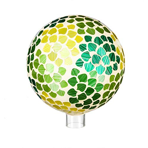 Evergreen Garden Nature's Vitality Mosaic 10 inch Glass Gazing Ball
