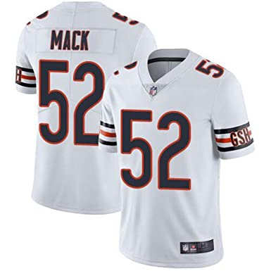half off c8f7e 100dc Amazon.com: Men's Chicago Bears Khalil Mack #52 White Stitch ...