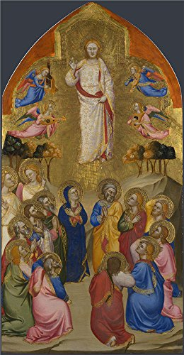 [Oil Painting 'Jacopo Di Cione And Workshop-The Ascension Upper Tier Panel,1370-1' 20 x 38 inch / 51 x 98 cm , on High Definition HD canvas prints is for Gifts And Basement, Home Theater And Li] (Denver Halloween Costume Ball Photos)