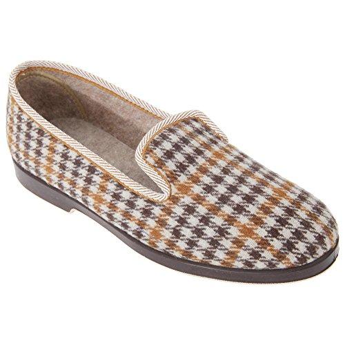 Zapatillas De Hombre Gbs Everett Hombres Check Slipper / Hombres Grey