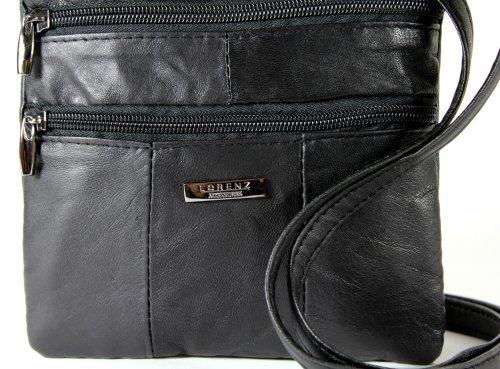 Bolso cruzado tamaño hombro suave o negro Lorenz pequeño al de bandolera 1941 piel gpdaqd