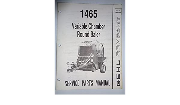 gehl round baler operators manual