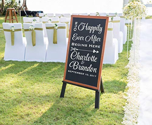 Happily Ever After Welcome Wedding Decal, Personalized Wedding Welcome Decal, Several Sizes and Colors, DECAL ONLY ()