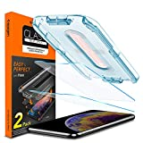 Spigen Tempered Glass Screen Protector [ Installation Kit ] Designed for iPhone Xs