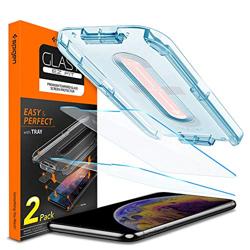 Spigen Tempered Glass Screen Protector [Installation Kit] Designed for iPhone Xs (2018) / iPhone X (2017) [2 Pack]