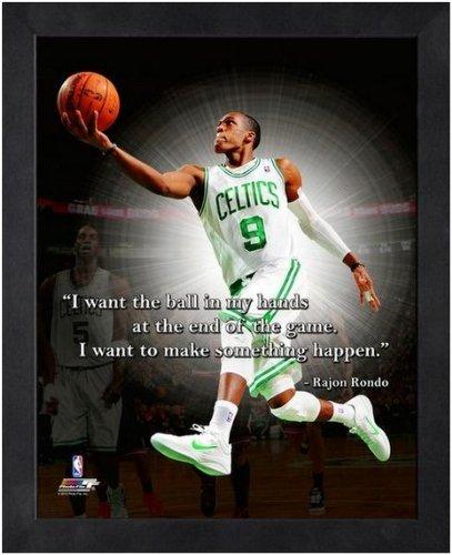 (NBA Rajon Rondo Boston Celtics Pro Quotes Framed 8x10 Photo)