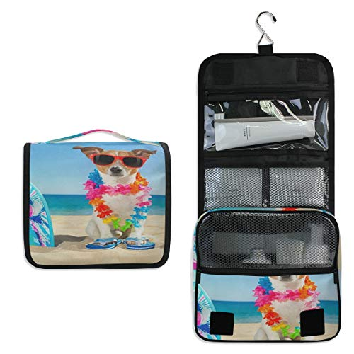 SLHFPX Hanging Toiletry Bag Jack Russell Dog Large Cosmetic Makeup Travel Organizer for Men & Women with Sturdy - Case Makeup Bratz