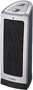 Lasko Electric Oscillating Ceramic 1500-Watt Tower Heater, High Heat, Low Heat, Programmable Thermostat Modes, 5307
