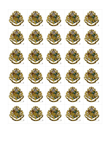 30 HARRY POTTER Edible Cupcake Toppers Wafer Paper Birthday Cake Decorations