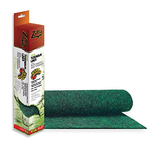 Zilla Reptile Terrarium Bedding Substrate Liner, Green, 10G Med Cage
