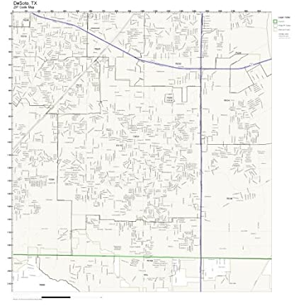 Amazon.com: ZIP Code Wall Map of DeSoto, TX ZIP Code Map Laminated on