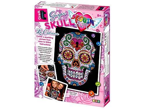 Sequin Art Sugar Skull Sparkling Arts and Crafts Picture Kit; Creative Crafts for Adults and Kids]()
