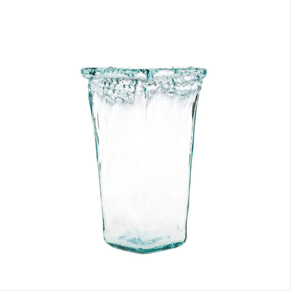 FGKL Vidrios Artesanales Florero Sala Transparente Decoración Simple Agua para Cada Sala De Estar Cantimplora