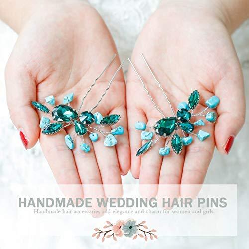 Wedding Hair Pins Turquoise Gemstone Hair Pins Mountain Wedding Set of 6 Turquoise Bobby Pins Nature Wedding