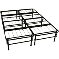 DuraBed Steel Foundation & Frame-in-One Mattress Support System Foldable Bed Frame, Full-size