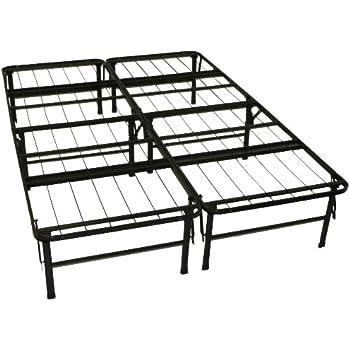 Amazoncom LUCID Foldable Metal Platform Bed Frame and Mattress