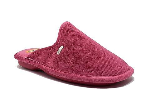 BIORELAX Zapatillas de casa Cómoda Para Mujer con Cámara de Aire Fucsia - 4570 (39
