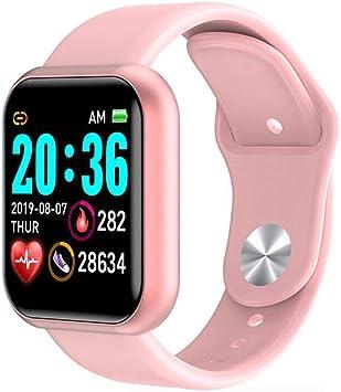 N/O Reloj inteligente para mujer, reloj inteligente, pulsera, reloj digital, frecuencia cardíaca/esfigmomanómetro, podómetro electrónico de frecuencia: Amazon.es: Electrónica