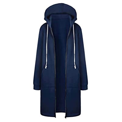 Sweatshirt Women Warm Coat Long Jacket Tops Hoodies Outwear Women Clothes: Ropa y accesorios