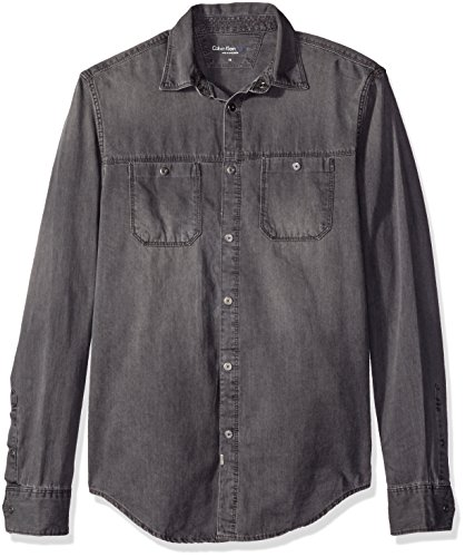 Calvin Klein Jeans Men's Denim Mechanic Button Down Shirt...