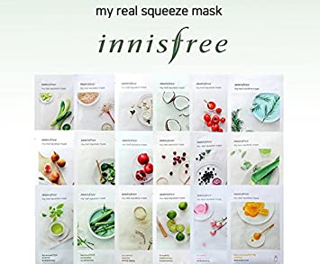 Innisfree It s Real Squeeze Mask Sheet Variety Set – 15 Sheets SoltreeBundle Natural Hemp Paper 50pcs