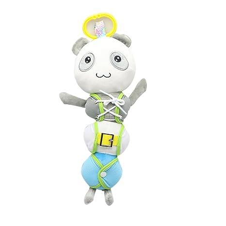 Luerme Peluches Bebés Juguetes Educativos de Montessori para Aprender Vestir Colgantes de Carritos para Bebés
