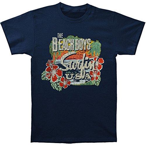 Beach Kids T-shirt (Bravado Men's Beach Boys Surfin Usa Tropical T-Shirt, Blue, Large)