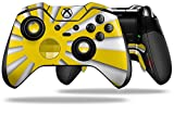 Rising Sun Japanese Flag Yellow - Decal Style Skin fits Microsoft XBOX One ELITE Wireless Controller (CONTROLLER NOT INCLUDED)