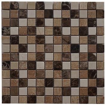 Naturstein Fliesen Travertin Mosaik 30 X 30 Cm Braun Creme Matte Badezimmer  M571