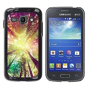 Caucho caso de Shell duro de la cubierta de accesorios de protección BY RAYDREAMMM - Samsung Galaxy Ace 3 GT-S7270 GT-S7275 GT-S7272 - Sun Yellow Ray Summer