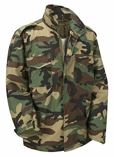 XS MILSPEC SURPLUS Mens Olive M65 US Military Field Army Combat Jacket Vintage Parka Coat Liner Size