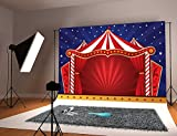 Botong Circus Decor Tapestry Wall Hanging, Canvas Tent Circus Stage Performing Theater Jokes Clown Cheerful Night Theme, Bedroom Living Room Dorm Decor BT111-5x3FT