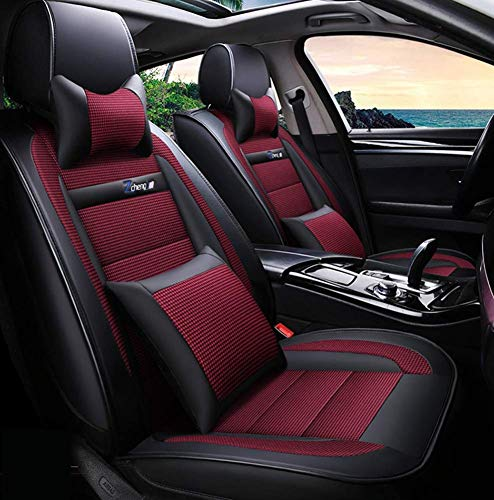 Phcom Leather Ice Silk Car Seat Cover - Non-Slip Suede-Lined Universal Fit Seat Cushion for Fabric And Leather Car Seats,C,D: Sports & Outdoors