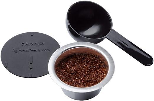 GUSTO PURO: cápsula de café rellenable de acero inoxidable para ...