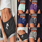 Summer Clearanc!Women's Solid Shorts Causal Sexy
