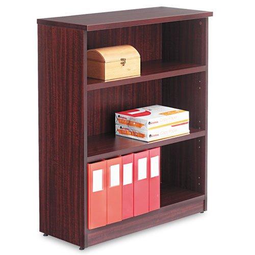 - Valencia Series Bookcase, Three-Shelf, 31-3/4w x 14d x 39-3/8h, Mahogany, Sold as 1 Each