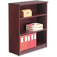 Alera - Valencia Series Bookcase, Three-Shelf, 31-3/4w x 14d x 39-3/8h, Mahogany VA63-4432MY (DMi EA