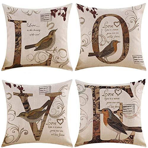 Kissmuyan 22 x 22 Inches Decorative Birds
